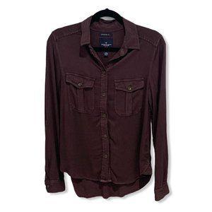 American Eagle Boyfriend Fit Utility Shirt XS EUC